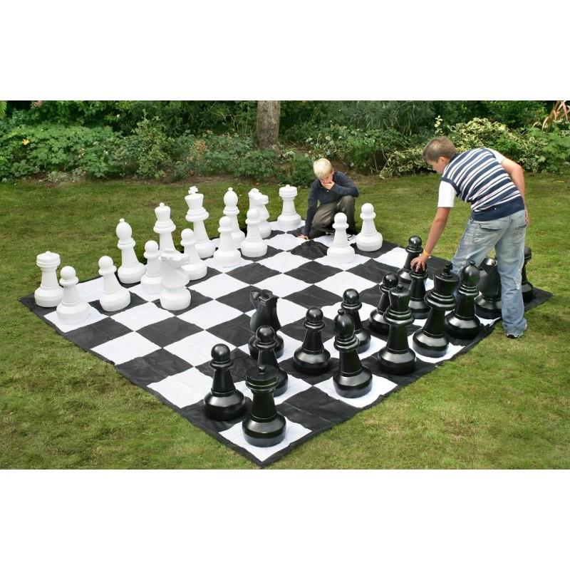 Pack Piezas de ajedrez gigante + Tablero de Lona