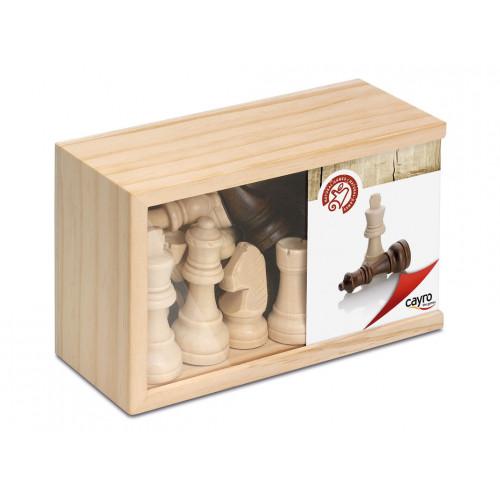 Piezas de madera Staunton 4. Medianas